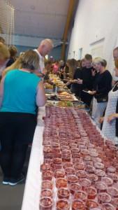 Der var sønderjysk kagebord og børnechampagne til alle